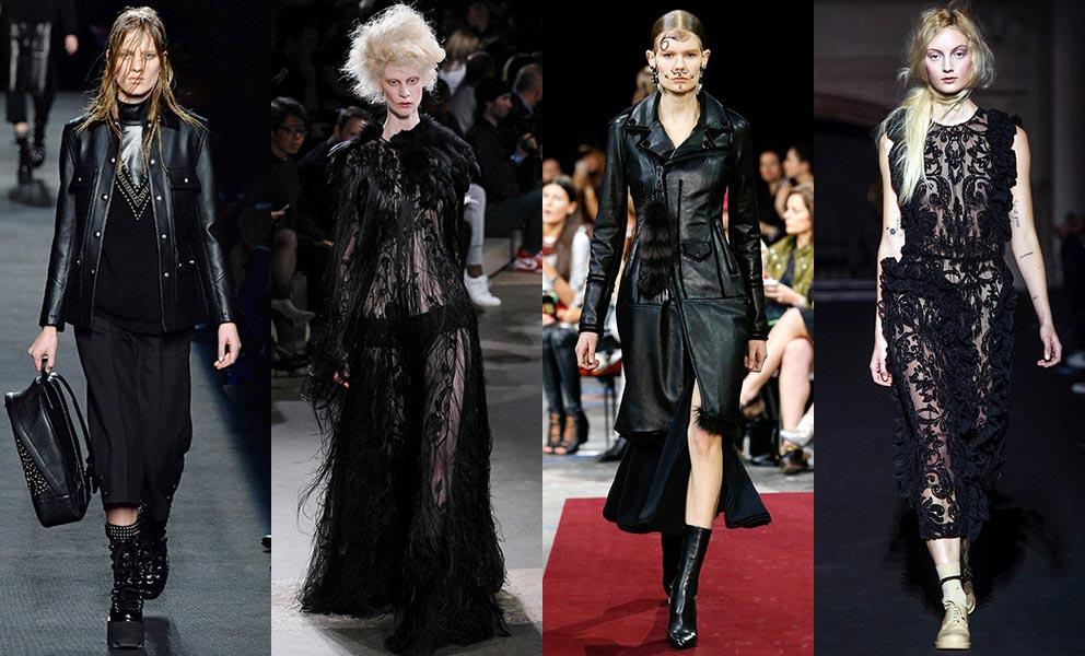 Уличный стиль моделей осенью 2014 на Неделе Моды в Нью-Йорке весна-лето 2015