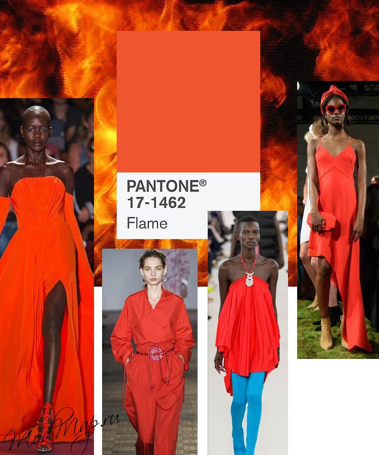 модный красно-оранжевый цвет